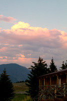 Cool clouds over the cabin